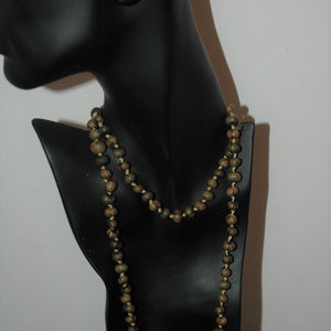 Coldwater Creek knotted natural seed necklace